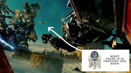R2 D2 in Transformers 2 3