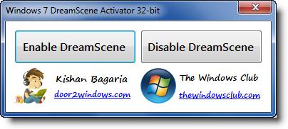 Aplicativo Dream Scene activator